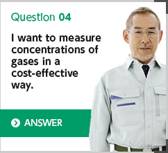 I want to measure concentrations of gases in a cost-effectiv